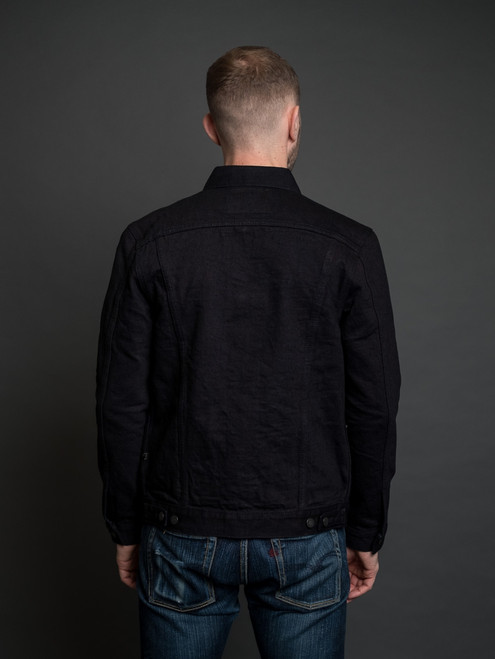 Pure Blue Japan 18 oz. Type III Denim Jacket - Indigo/Black