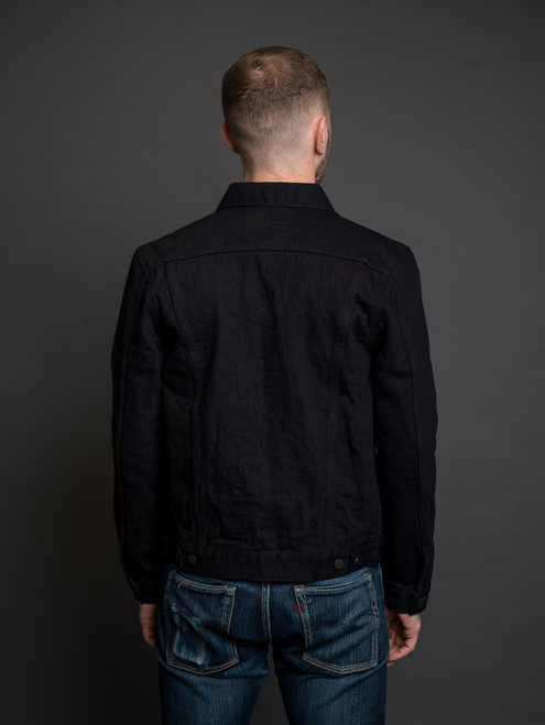 Pure Blue Japan 18 oz. Type II Denim Jacket - Indigo/Black