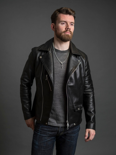 "Nine Lives ""Más o Menos"" Steerhide Leather Jacket"