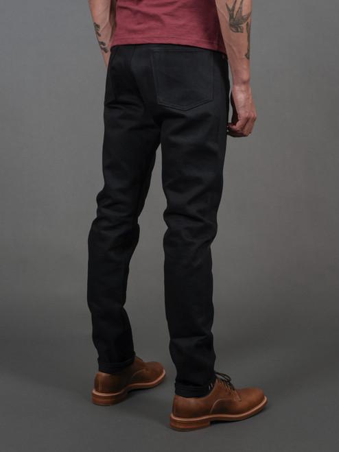 Momotaro R0405-B 15.7 oz High Tapered Black Jeans