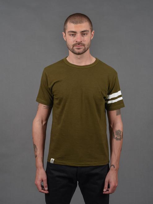 Momotaro MT302 Zimbabwe Cotton T Shirts - Green - Stripe