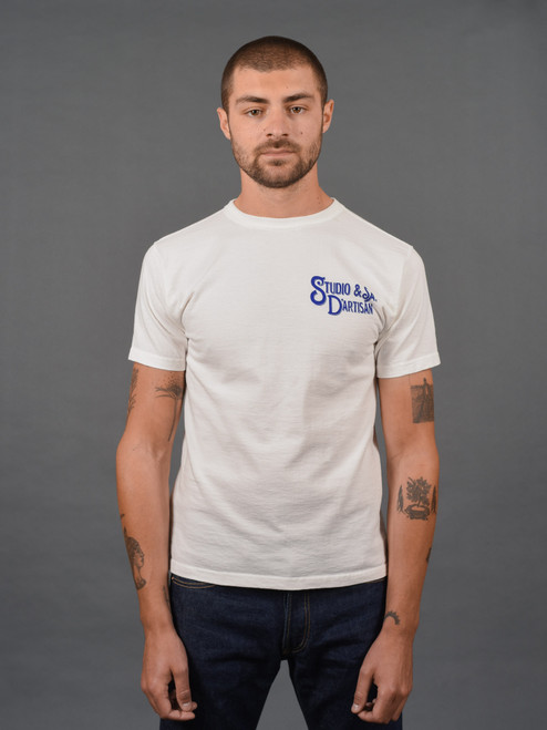 Studio D'Artisan Printed Loopwheeled T Shirt - White
