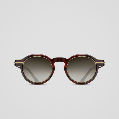 Matsuda M2050 Dark Tortoise Antique Gold Pantos Sunglasses