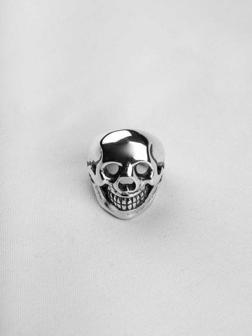Good Art Sterling Silver Big Skull Ring
