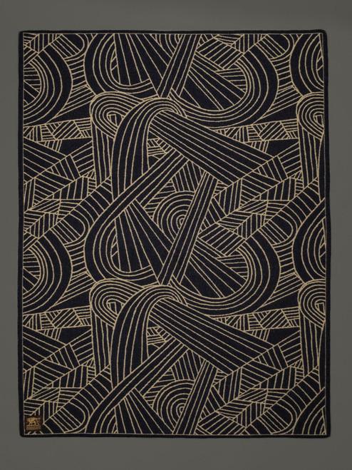 Indigofera 100% Wool Warp Yarn Blanket