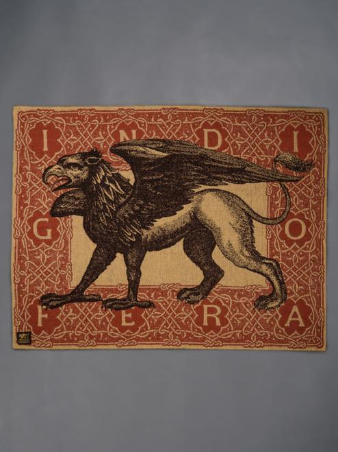 Indigofera 100% Wool Gryphon Logo Blanket