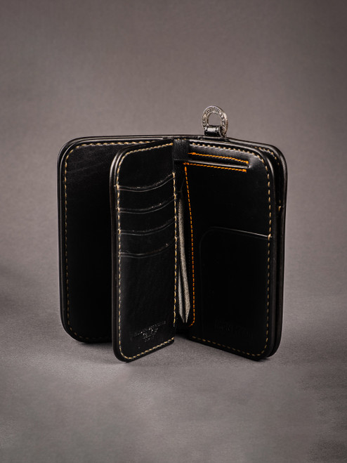 Iron Heart Medium Shell Cordovan Wallet - Black