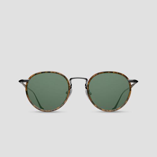 Matsuda M3058 Rounded Tortoise Shell Sunglasses