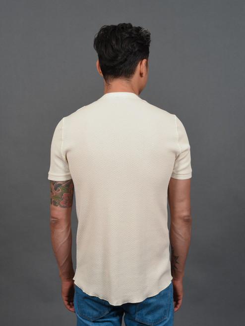 Fleurs De Bagne Élysée Knitted Short Sleeve Shirt - Natural