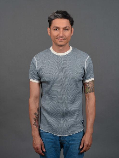 Fleurs De Bagne Richelieu Knitted Short Sleeve Shirt - Heather