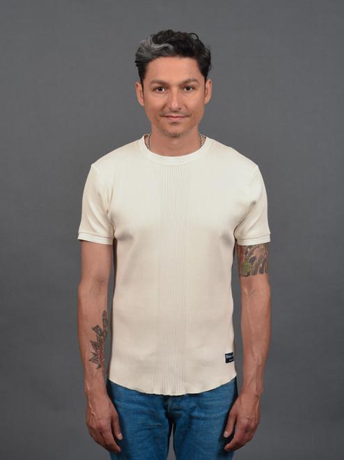 Fleurs De Bagne Richelieu Knitted Short Sleeve Shirt - Natural