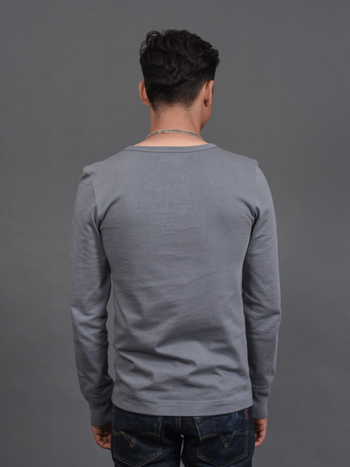Merz b. Schwanen 2 Thread 206 Heavyweight Organic Henley - Storm