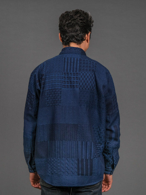 FDMTL Indigo Boro Shirt