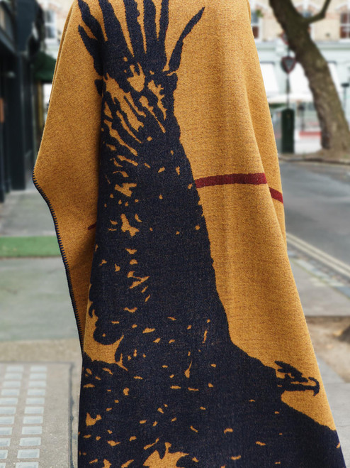 Indigofera 100% Wool Blanket - Eagle - Orange