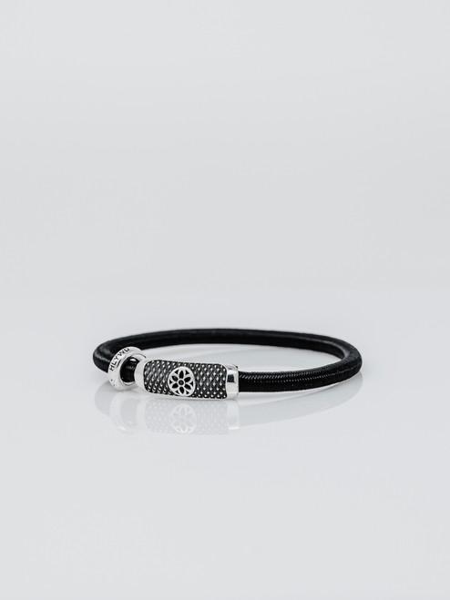 Good Art Stretchy Pants Goosebump Rosette Bracelet - Black