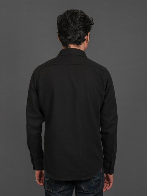 Iron Heart 7oz Soft Flannel Work Shirt - Black