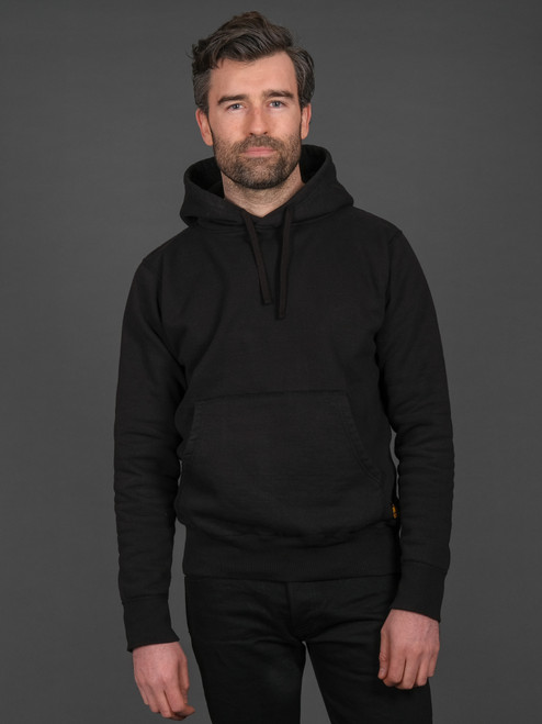 Iron Heart 14oz Ultra Heavyweight Loopwheel Pullover Hoodie – Black