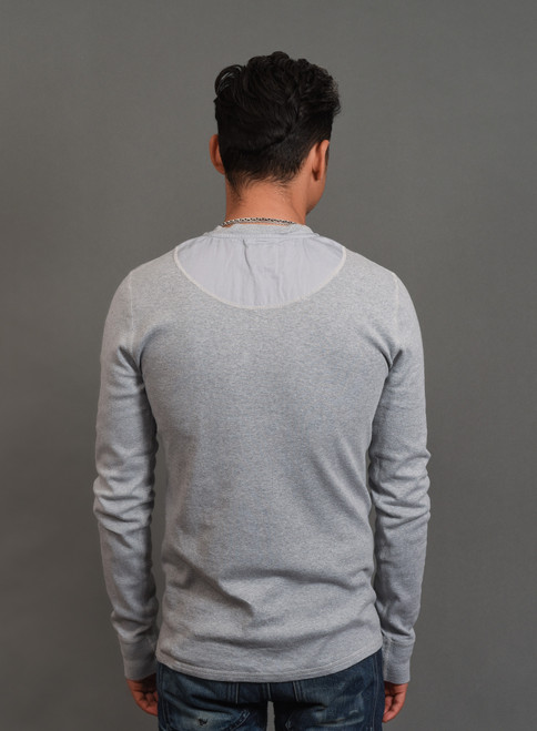 B.O.T.D. Tubular Long Sleeve Henley - Heather Grey