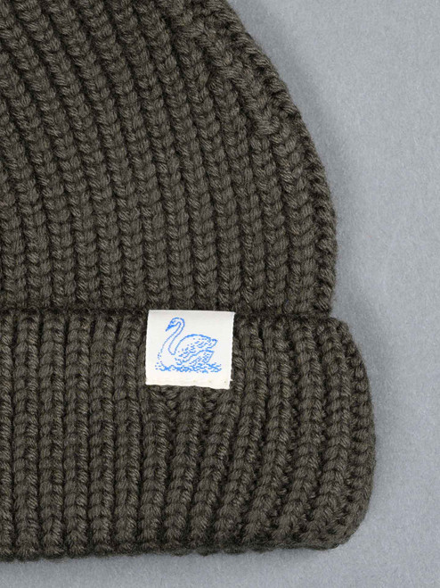 Merz b. Schwanen Merino Wool Beanie - Army