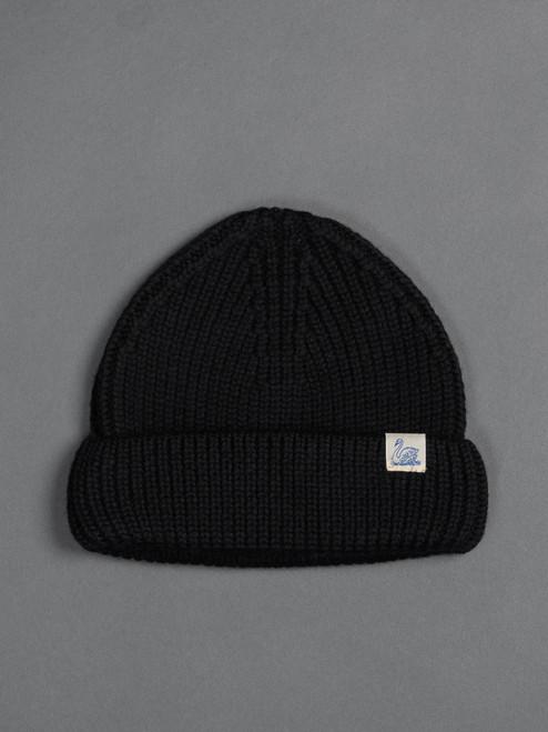 Merz b. Schwanen Merino Wool Beanie - Deep Black