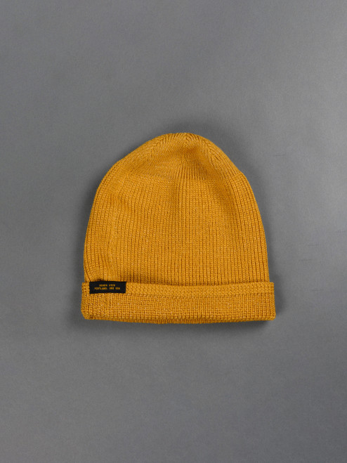 Dehen Wool Knit Watch Cap - Old Gold