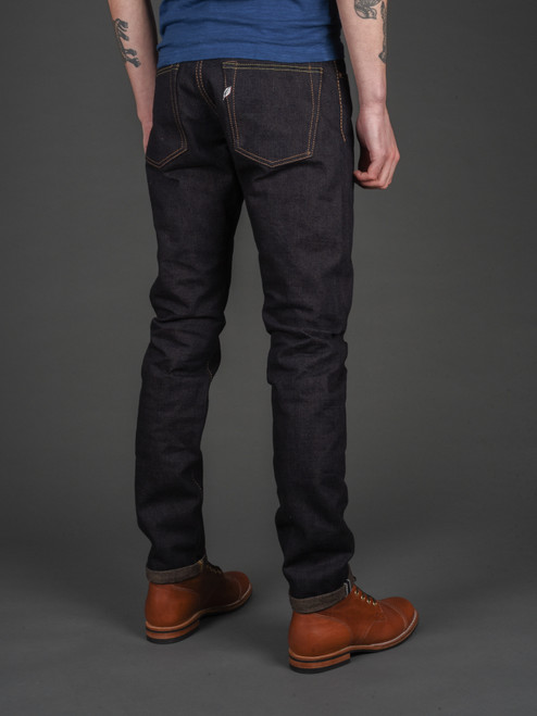 Pure Blue Japan OG-013 Organic & Recycled Cotton Slim Tapered Jeans