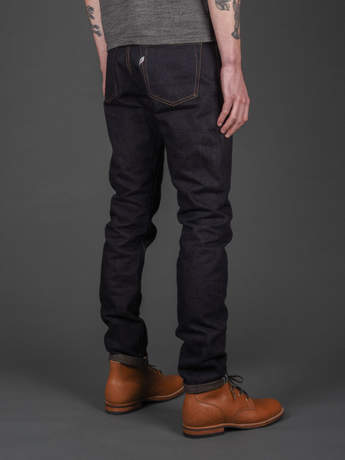 Pure Blue Japan OG-019 Organic & Recycled Cotton Relaxed Tapered Jeans