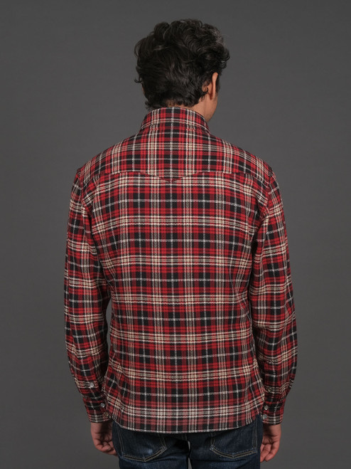 The Flat Head Western Selvedge Flannel - Black/Red