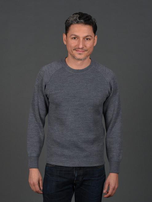 Stevenson Overall Merino Wool Thermal Sweater - Grey