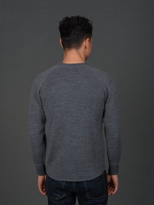Stevenson Overall Merino Wool Thermal Sweater - Grey