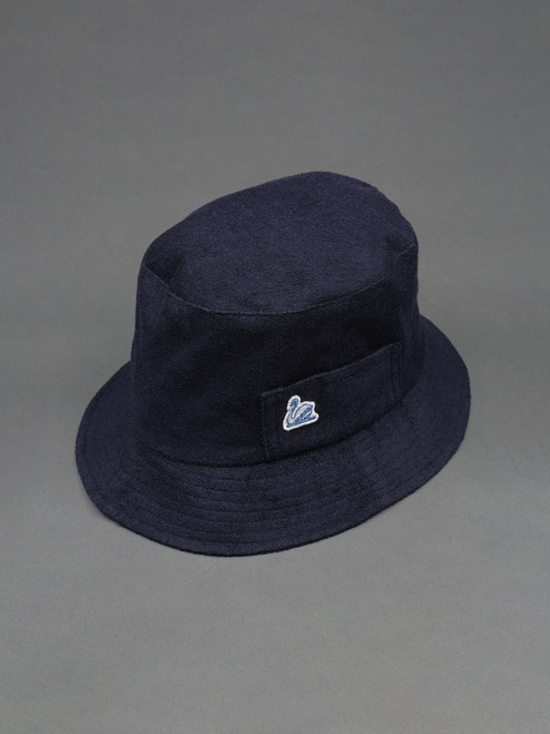 Merz b. Schwanen French Terry Cloth Bucket Hat - Deep Blue