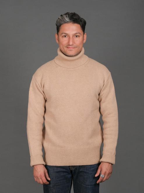 Merz b. Schwanen Cashmere Merino Turtle Neck Sweater - Toffee