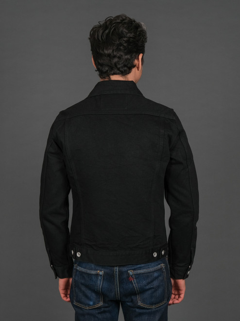 Iron Heart 14oz Selvedge Denim Modified Type III Jacket - Black/Black