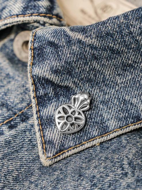 Good Art Sterling Silver Sacred Rosette Pin