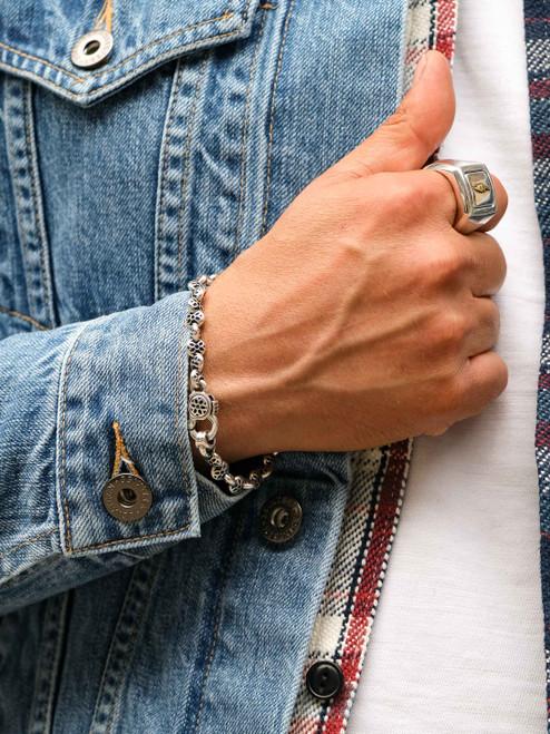 Good Art Sterling Boston Link Party AAA Bracelet