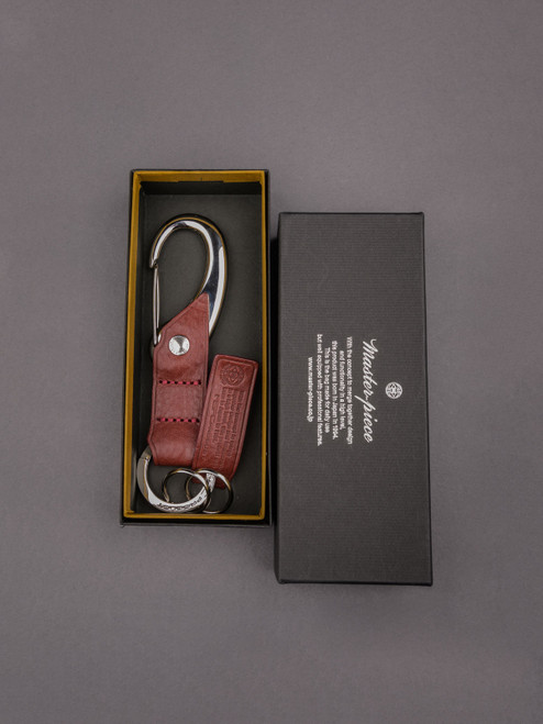 Master-Piece EQ Leather Key Holder - Wine