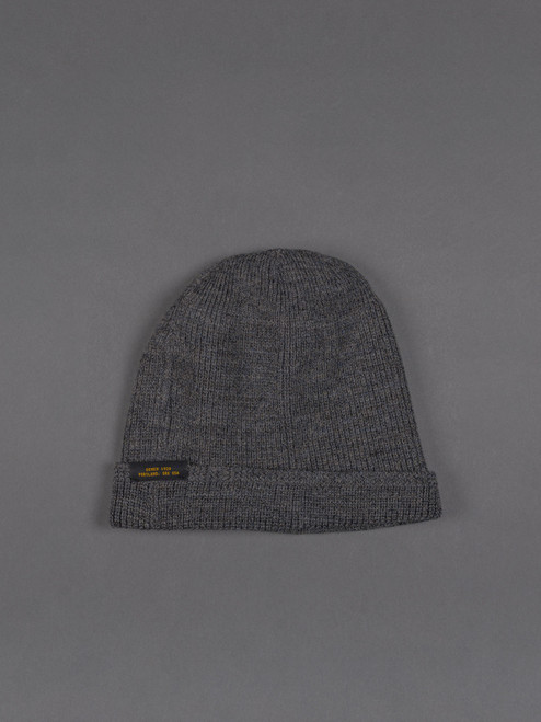 Dehen Wool Knit Watch Cap - Charcoal
