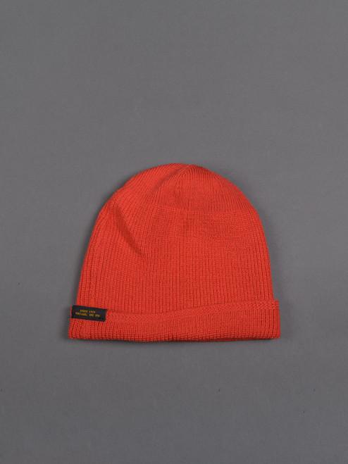 Dehen Wool Knit Watch Cap - Blood Orange