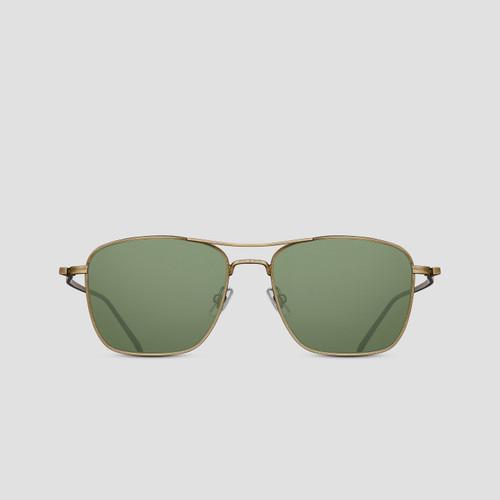 Matsuda M3099 Antique Gold Navigator Sunglasses