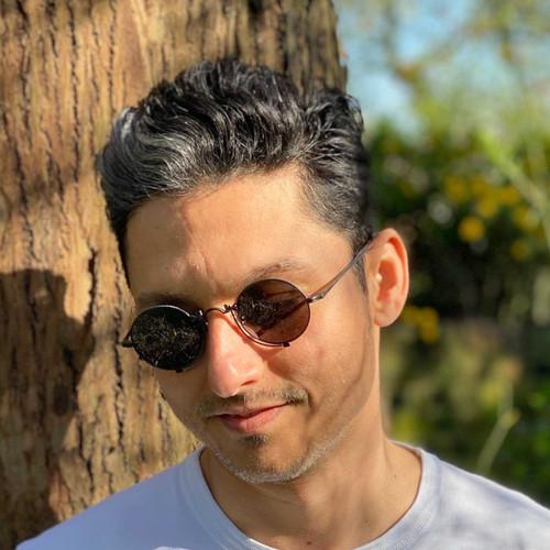 Matsuda 10601H Oval Titanium Sunglasses - Matte Black