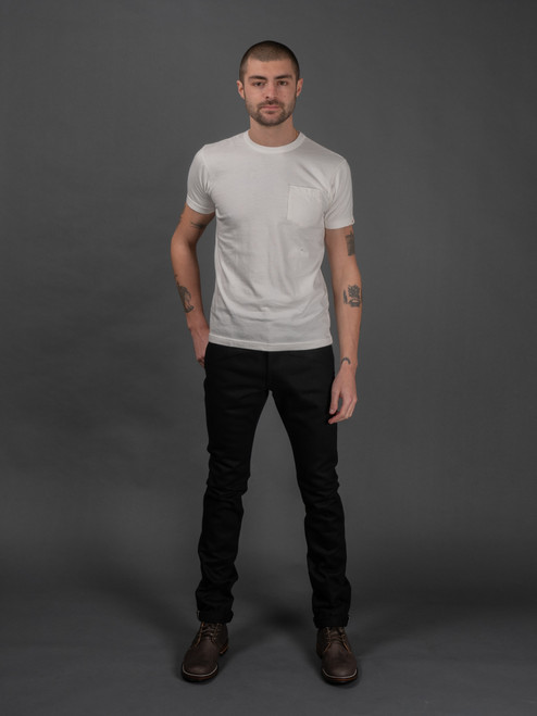 IH-555-03 Super Black Slim Selvedge Jeans