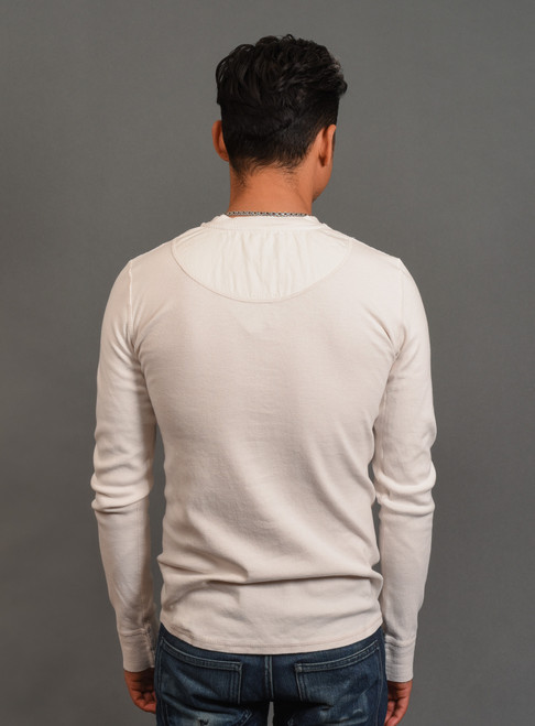 B.O.T.D. Tubular Long Sleeve Henley - Off White