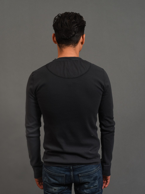 B.O.T.D. Tubular Long Sleeve Henley - Black