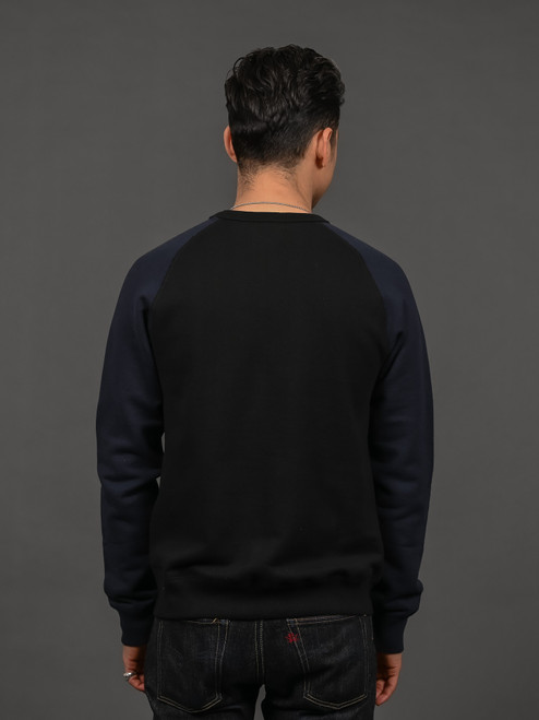 Nine Lives Tsuriurake Loopwheeled Sweater - Black/Navy