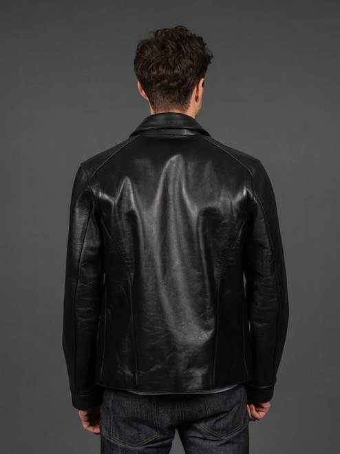 Nine Lives Yak Leather Rider's Jacket - Black