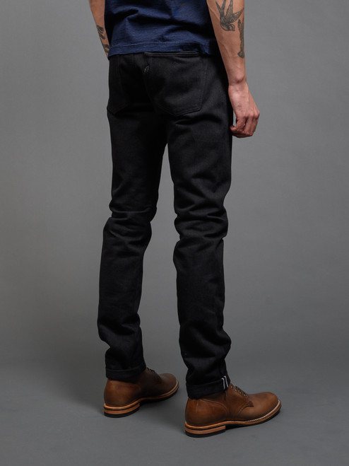 Pure Blue Japan XX-013-BB Slim Tapered Jeans - Double Black