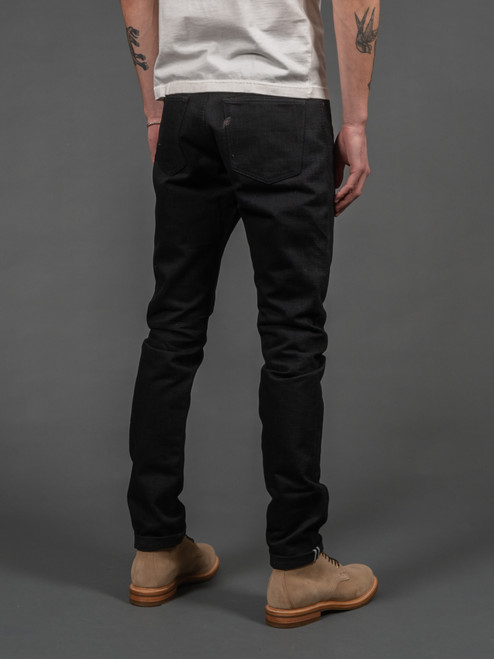 Pure Blue Japan XX-019-BB Relaxed Tapered Jeans - Double Black