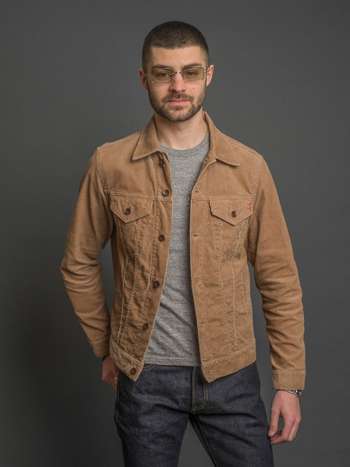 Iron Heart 14w Corduroy Modified Type III Jacket - Khaki