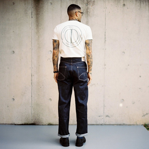 Dawson Denim Wide Tapered Selvedge Jeans - Natural Indigo