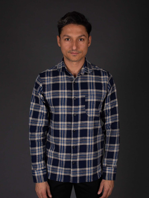 Rogue Territory Traveler Shirt - Navy Neppy Plaid